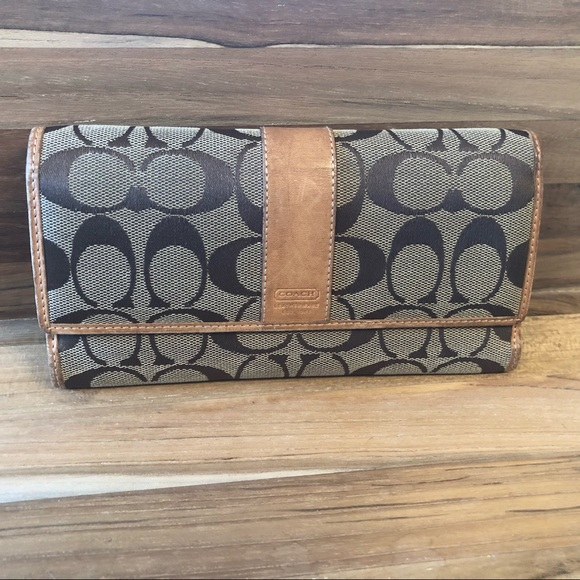Coach Handbags - Coach Canvas and Leather Wallet